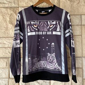 Hood by Air White Tiger City Sweatshirt Medium